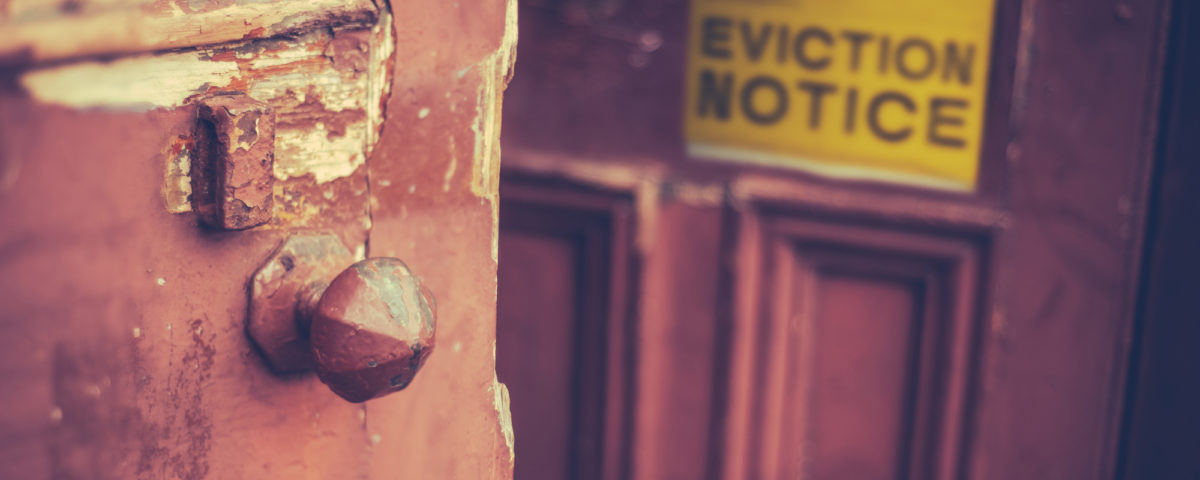 Filing eviction on tenant